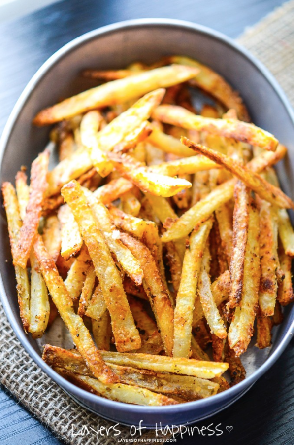 How to make homemade french fries in the oven